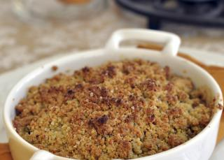 Crumble abricot amandes